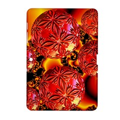 Flame Delights, Abstract Red Orange Samsung Galaxy Tab 2 (10.1 ) P5100 Hardshell Case