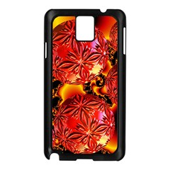 Flame Delights, Abstract Red Orange Samsung Galaxy Note 3 N9005 Case (Black)