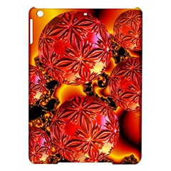 Flame Delights, Abstract Red Orange Apple iPad Air Hardshell Case