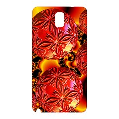 Flame Delights, Abstract Red Orange Samsung Galaxy Note 3 N9005 Hardshell Back Case