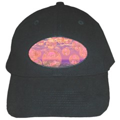 Glorious Skies, Abstract Pink And Yellow Dream Black Baseball Cap
