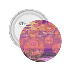 Glorious Skies, Abstract Pink And Yellow Dream 2.25  Button