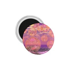 Glorious Skies, Abstract Pink And Yellow Dream 1 75  Button Magnet
