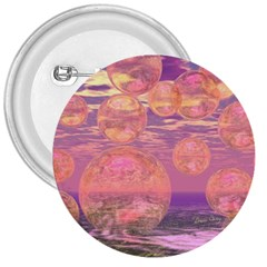 Glorious Skies, Abstract Pink And Yellow Dream 3  Button