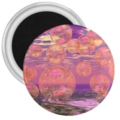Glorious Skies, Abstract Pink And Yellow Dream 3  Button Magnet