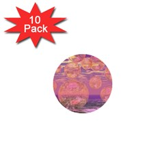 Glorious Skies, Abstract Pink And Yellow Dream 1  Mini Button (10 pack)