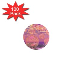 Glorious Skies, Abstract Pink And Yellow Dream 1  Mini Button Magnet (100 pack)