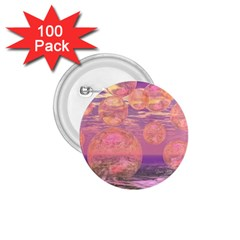 Glorious Skies, Abstract Pink And Yellow Dream 1 75  Button (100 Pack)