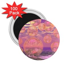 Glorious Skies, Abstract Pink And Yellow Dream 2 25  Button Magnet (100 Pack)
