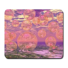 Glorious Skies, Abstract Pink And Yellow Dream Large Mouse Pad (Rectangle)