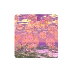 Glorious Skies, Abstract Pink And Yellow Dream Magnet (Square)