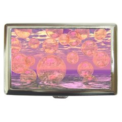 Glorious Skies, Abstract Pink And Yellow Dream Cigarette Money Case