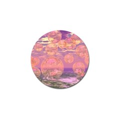 Glorious Skies, Abstract Pink And Yellow Dream Golf Ball Marker