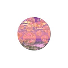 Glorious Skies, Abstract Pink And Yellow Dream Golf Ball Marker 10 Pack