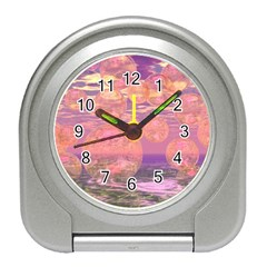 Glorious Skies, Abstract Pink And Yellow Dream Desk Alarm Clock