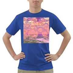 Glorious Skies, Abstract Pink And Yellow Dream Men s T-shirt (Colored)