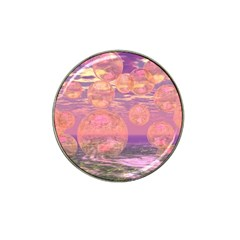 Glorious Skies, Abstract Pink And Yellow Dream Golf Ball Marker 4 Pack (for Hat Clip)