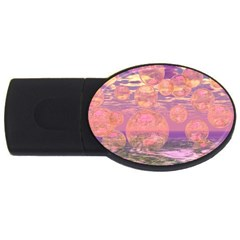 Glorious Skies, Abstract Pink And Yellow Dream 4GB USB Flash Drive (Oval)