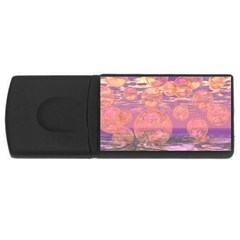 Glorious Skies, Abstract Pink And Yellow Dream 4GB USB Flash Drive (Rectangle)