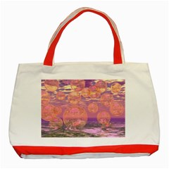 Glorious Skies, Abstract Pink And Yellow Dream Classic Tote Bag (Red)