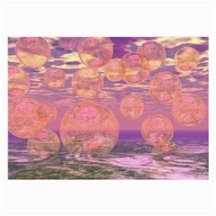 Glorious Skies, Abstract Pink And Yellow Dream Glasses Cloth (Large, Two Sided)