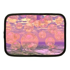Glorious Skies, Abstract Pink And Yellow Dream Netbook Sleeve (medium)