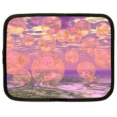 Glorious Skies, Abstract Pink And Yellow Dream Netbook Sleeve (large)