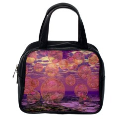 Glorious Skies, Abstract Pink And Yellow Dream Classic Handbag (One Side)