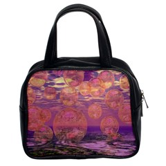 Glorious Skies, Abstract Pink And Yellow Dream Classic Handbag (Two Sides)