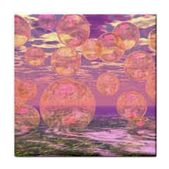 Glorious Skies, Abstract Pink And Yellow Dream Face Towel