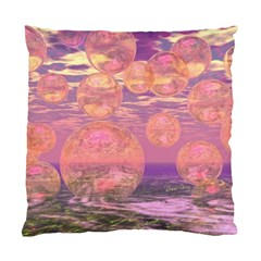 Glorious Skies, Abstract Pink And Yellow Dream Cushion Case (Two Sided)