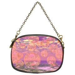 Glorious Skies, Abstract Pink And Yellow Dream Chain Purse (Two Sided)
