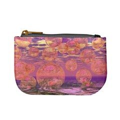 Glorious Skies, Abstract Pink And Yellow Dream Coin Change Purse