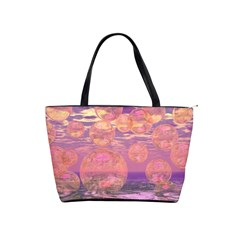Glorious Skies, Abstract Pink And Yellow Dream Large Shoulder Bag