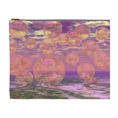 Glorious Skies, Abstract Pink And Yellow Dream Cosmetic Bag (xl)