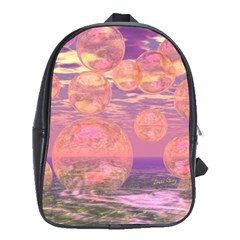 Glorious Skies, Abstract Pink And Yellow Dream School Bag (Large)