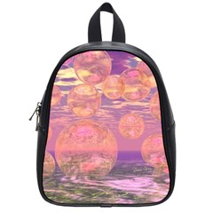 Glorious Skies, Abstract Pink And Yellow Dream School Bag (Small)