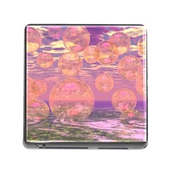 Glorious Skies, Abstract Pink And Yellow Dream Memory Card Reader with Storage (Square)