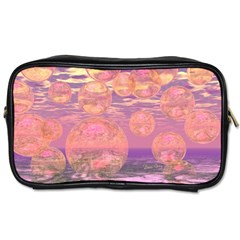 Glorious Skies, Abstract Pink And Yellow Dream Travel Toiletry Bag (Two Sides)