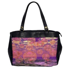 Glorious Skies, Abstract Pink And Yellow Dream Oversize Office Handbag (one Side)