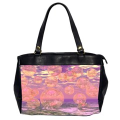 Glorious Skies, Abstract Pink And Yellow Dream Oversize Office Handbag (Two Sides)