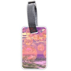 Glorious Skies, Abstract Pink And Yellow Dream Luggage Tag (Two Sides)