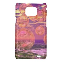 Glorious Skies, Abstract Pink And Yellow Dream Samsung Galaxy S II i9100 Hardshell Case