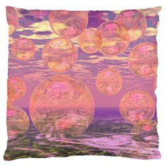 Glorious Skies, Abstract Pink And Yellow Dream Large Cushion Case (two Sided)