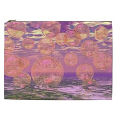 Glorious Skies, Abstract Pink And Yellow Dream Cosmetic Bag (XXL)