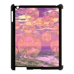 Glorious Skies, Abstract Pink And Yellow Dream Apple iPad 3/4 Case (Black)