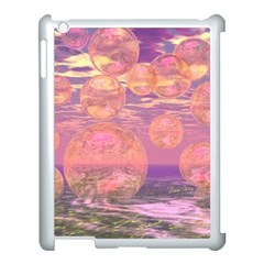 Glorious Skies, Abstract Pink And Yellow Dream Apple iPad 3/4 Case (White)