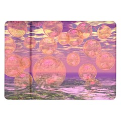 Glorious Skies, Abstract Pink And Yellow Dream Samsung Galaxy Tab 10.1  P7500 Flip Case