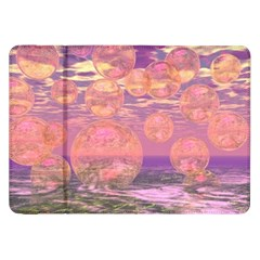 Glorious Skies, Abstract Pink And Yellow Dream Samsung Galaxy Tab 8.9  P7300 Flip Case