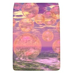 Glorious Skies, Abstract Pink And Yellow Dream Removable Flap Cover (large)